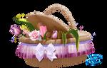 Floral basket - PNG