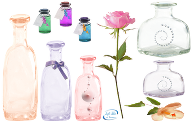 Colorful bottles - PNG by lifeblue