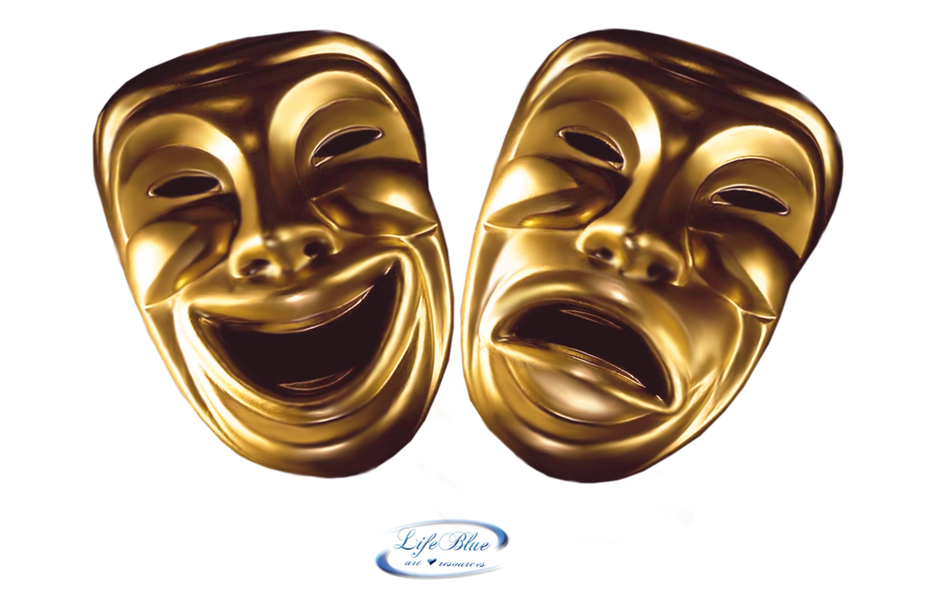 Comedy Mask Png Comedy and tragedy mask - png