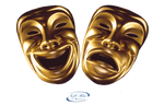 Comedy and tragedy mask - PNG