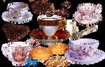 Vintage Coffee Mugs - PNG