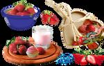 Strawberries - PNG