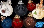 Christmas balls - PNG