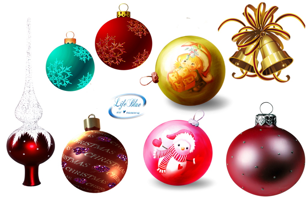 Christmas balls + - PNG by lifeblue