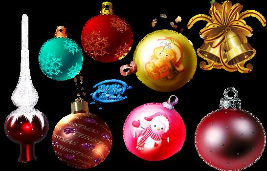 Christmas balls + - PNG