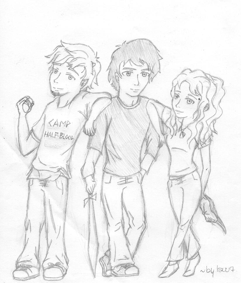 Percy, Annabeth and Grover by lauu7 on DeviantArt