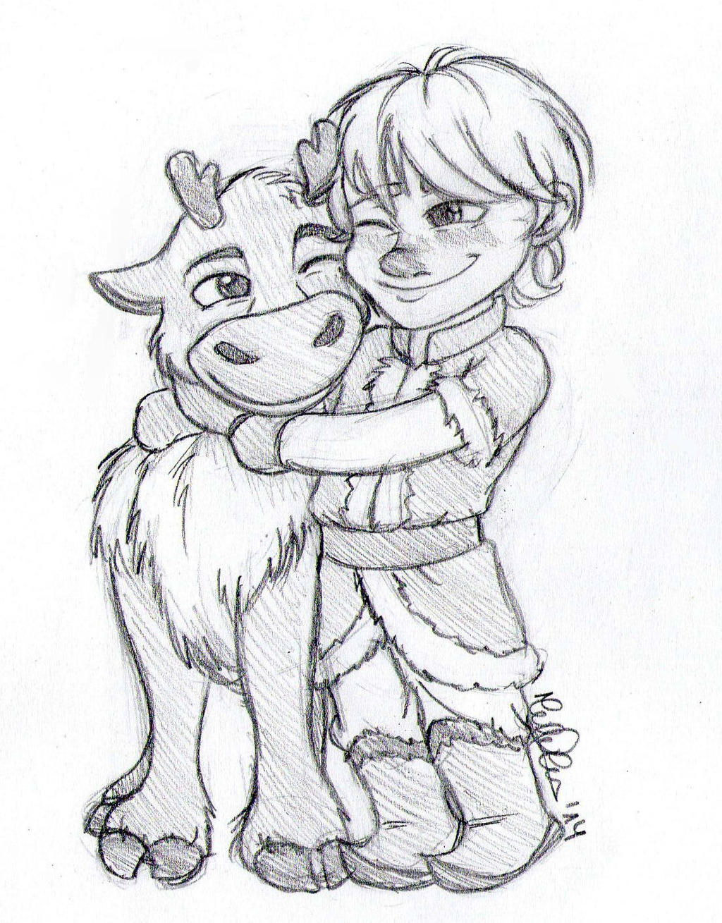 baby kristoff and sven by lauu7 on deviantart