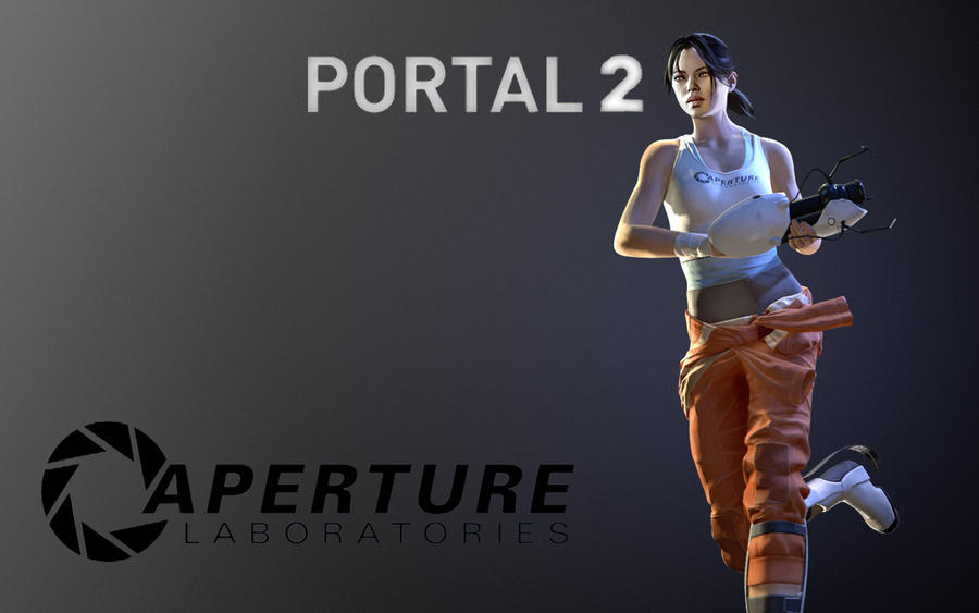 portal 2 background. portal 2 wallpaper chell.