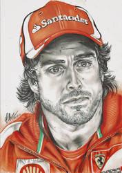 Fernando Alonso by FreedomforGoku