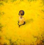 yellow flower dress by asahinoboru