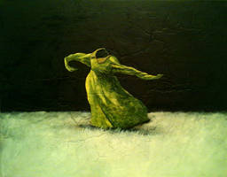 dancing green fress