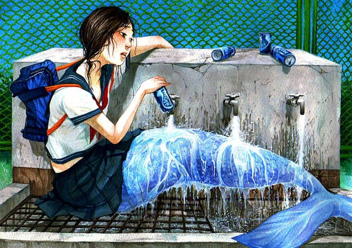 a mermaid after school