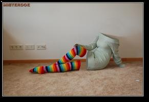 Invisible Girl Rocks Rainbow Socks