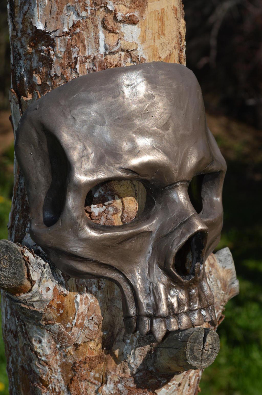 Bronze skull mask by RavenKing77