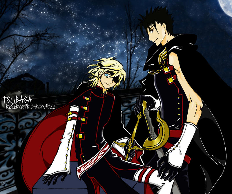 Kurogane X Fai With Background By Psycholark On DeviantArt