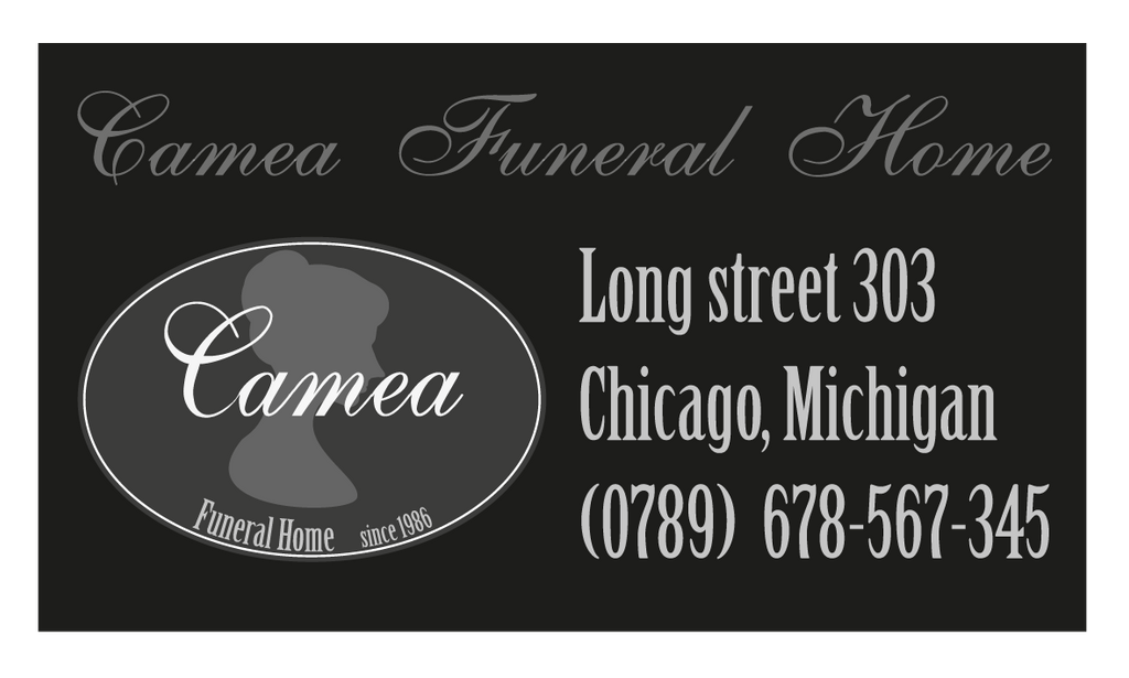 Camea Funeral Home business card by DesignerCat on DeviantArt