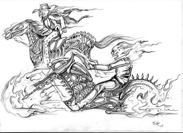Ghost Rider Sketch By Tiesta By BGeary787 On DeviantArt