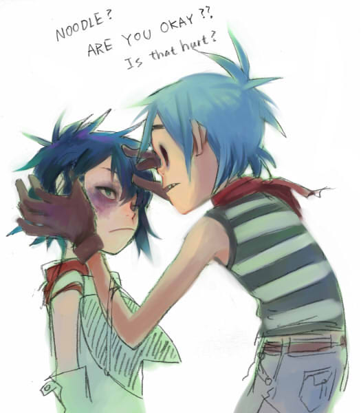 murdoc and noodle relationship help