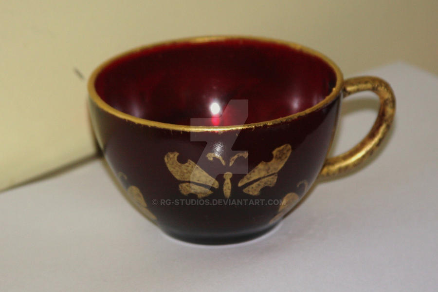 golden butterfly teacup by RG-Studios