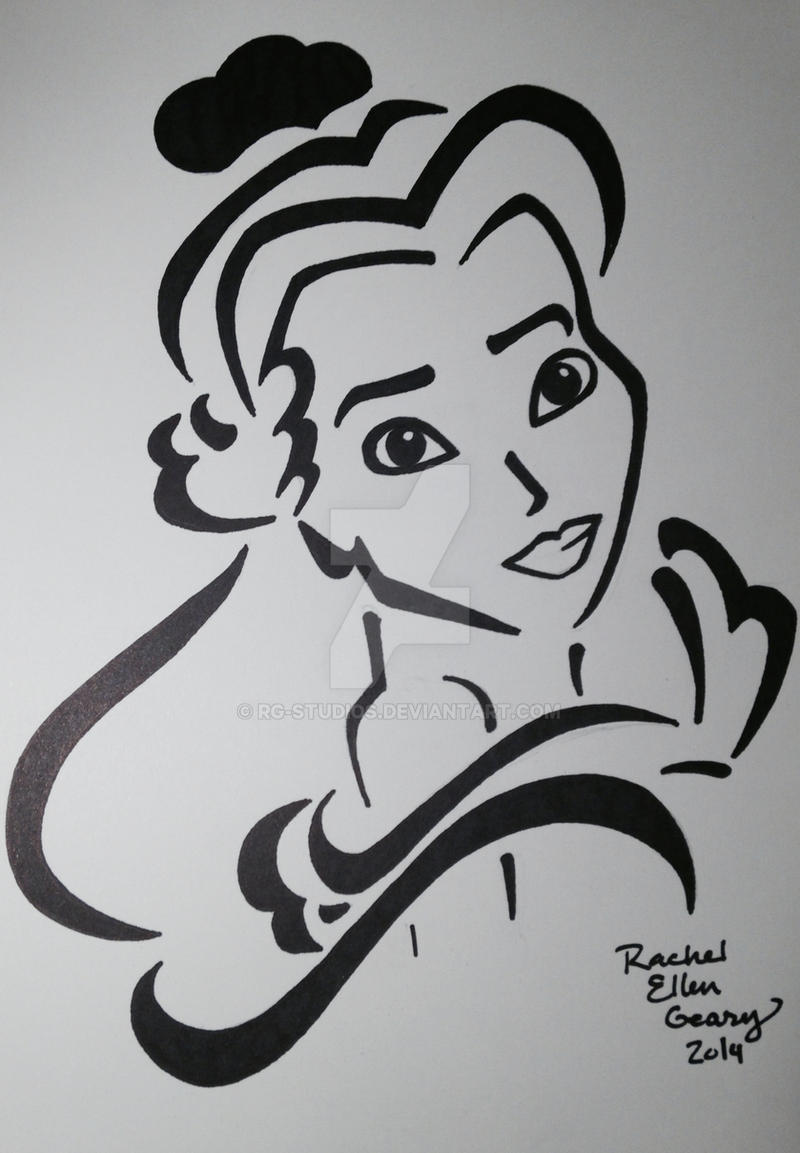 Belle Stencil In Black And White By Rg Studios On Deviantart