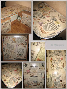 'Collage' writing desk