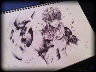 Genos from One Punch Man by megaflameable