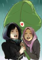 Cinta bawah daun keladi by AinLavendra