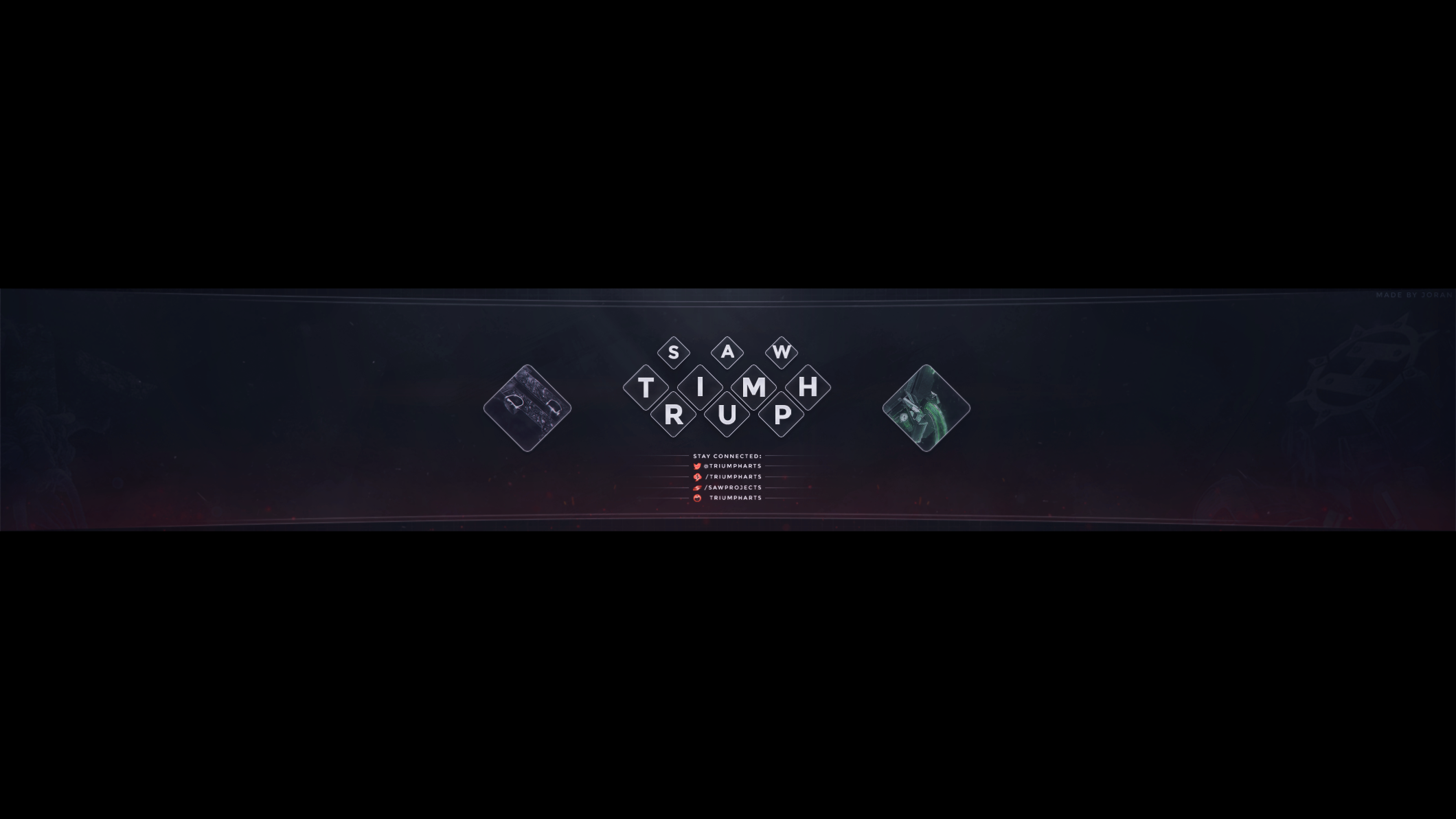 triumph 2dimensional youtube banner by flamingconcepts on deviantart. Black Bedroom Furniture Sets. Home Design Ideas