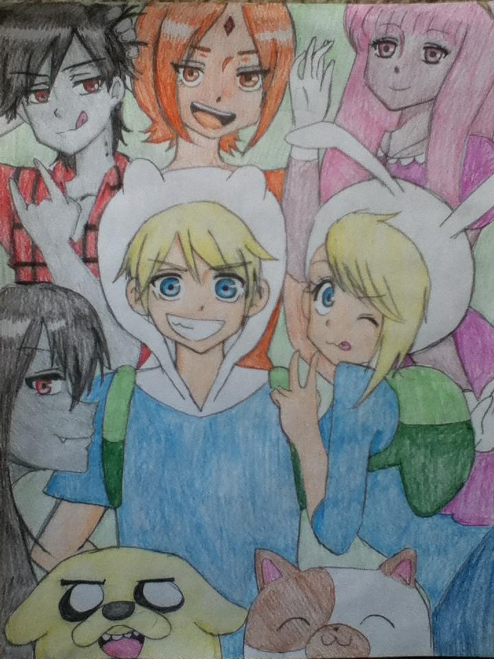 adventure time in anime by niki-nwoko27