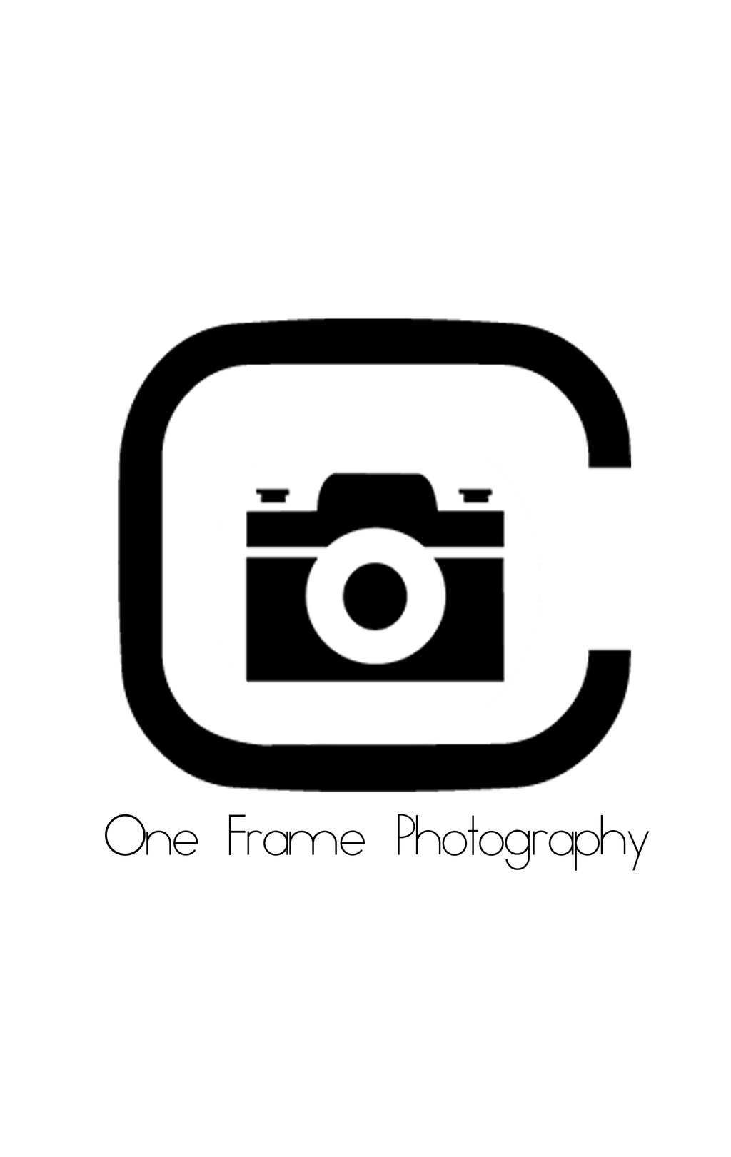 one frame photography logowatermark by