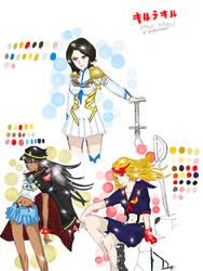 KLK style sketchdump by Manami-Miku