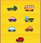 Car Icon Set BevelAndEmboss