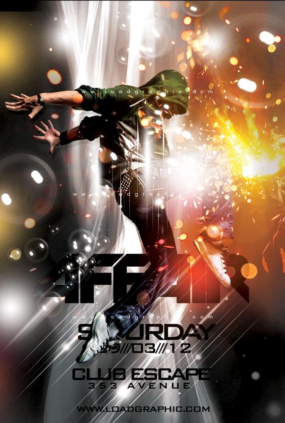 Free Psd Graphics Dance Beat Flyer Psd Template By Kiattikun On