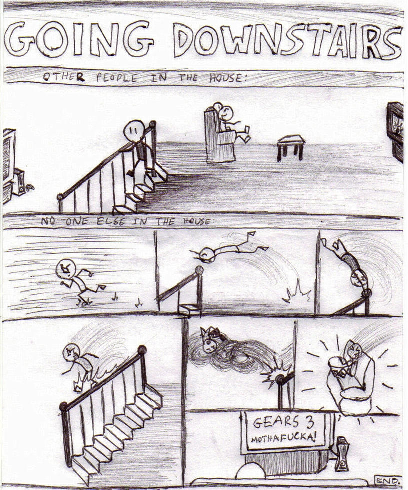 Going Downstairs... by Epic-Stick-Comics