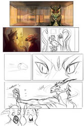 Comic Page WIP by Yuroboros