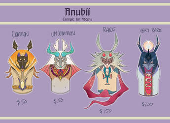 Anubii Canopic Jar Adopts (closed for now!)