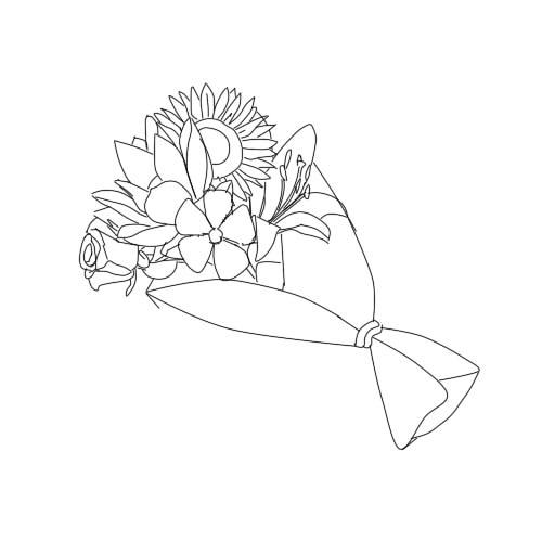 Flower Bouquet Line Drawing : Flower bouquet line by roro chan on deviantart