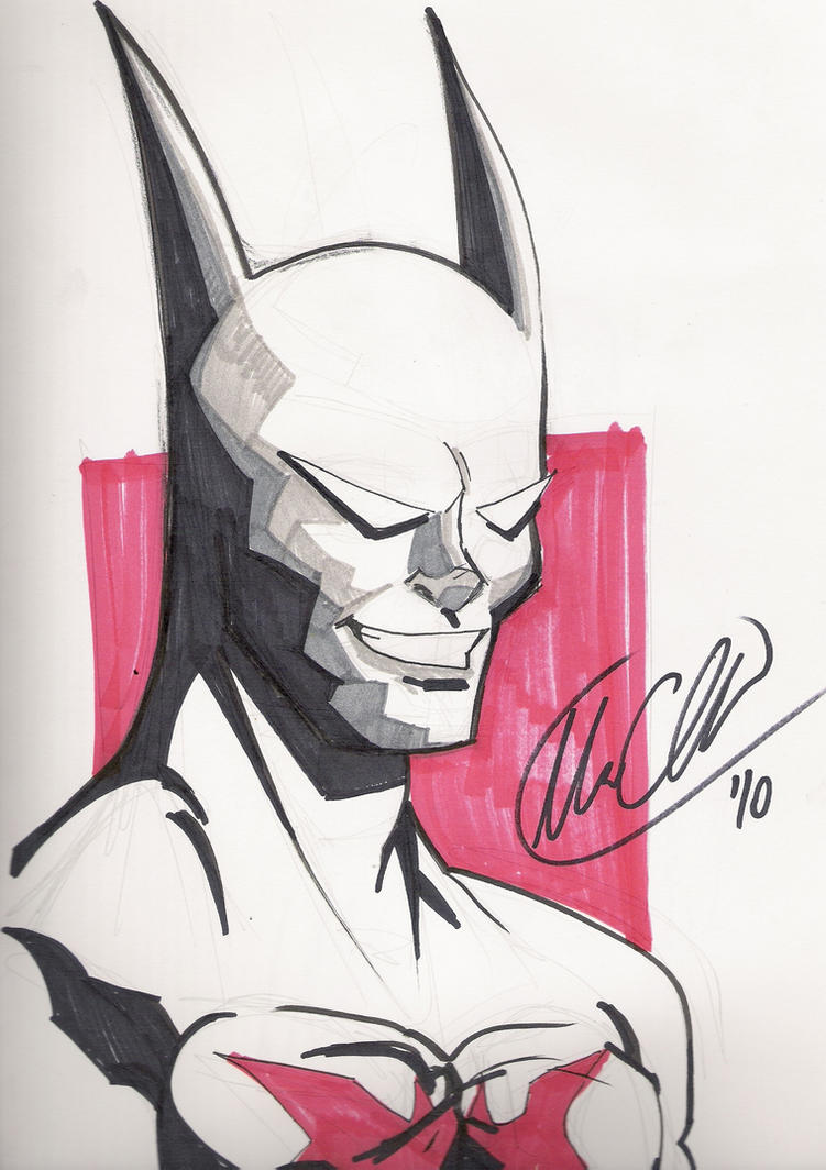 Batman Beyond Sketch by bluerunner4 on DeviantArt