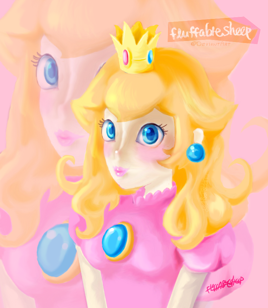 Advent Request #4: Princess Peach by FluffableSheep