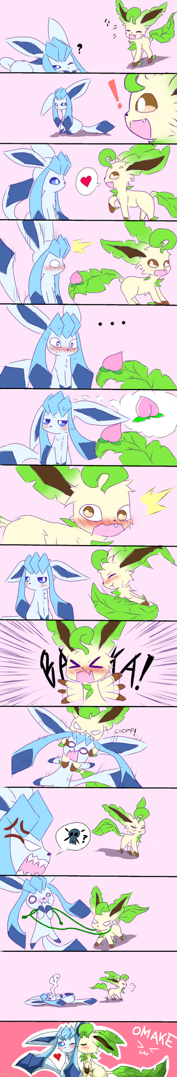 Glaceon x Leafeon by Haxus-kun