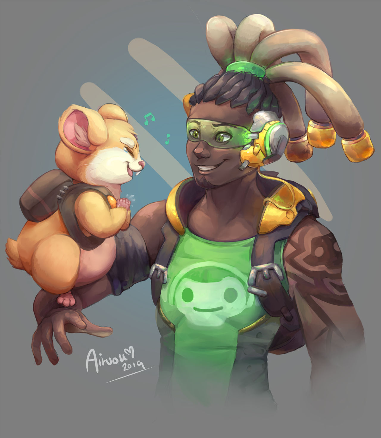 Hammond And Lucio Overwatch Fanart By Aituok On Deviantart