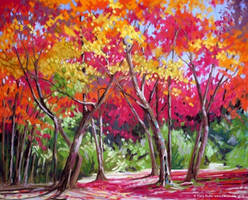 Acers In Autumn by tracybutlerart