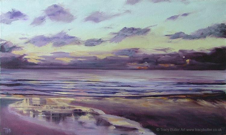 Kintra Beach Sunset Islay by tracybutlerart