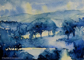 Blue Woods by tracybutlerart