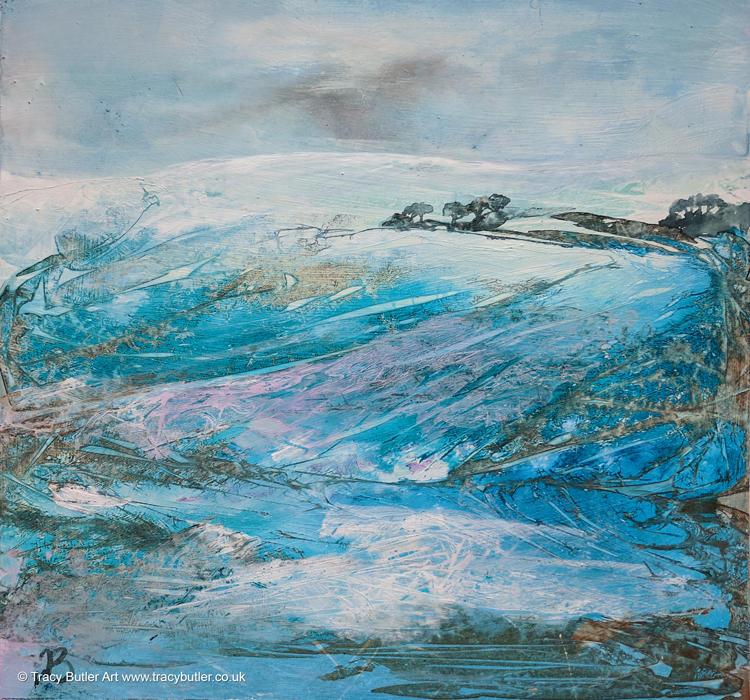 Snowy Hills by tracybutlerart