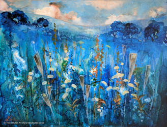 In the Blue, Dancing And Swaying by tracybutlerart