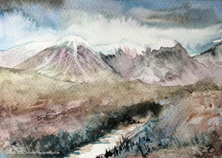 Mountain Stream by tracybutlerart