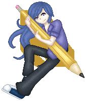 Pixel Art - Pencil is Key by Sasoragon