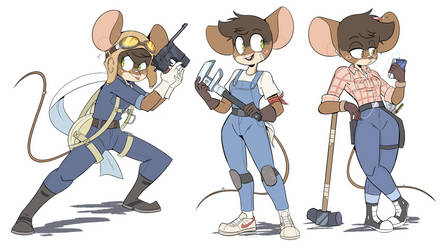 Mechanic Mouse Outfits by Beezii11