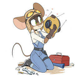 Mouse and Little Robot by Beezii11
